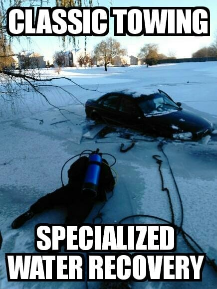 under water vehicle recovery in illinois